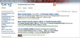 Bing with Facebook Likes in results