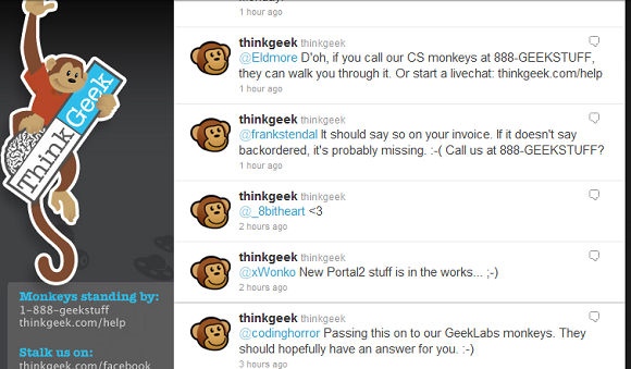ThinkGeek Twitter feed