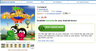 Yumsters in Amazon Appstore for Android
