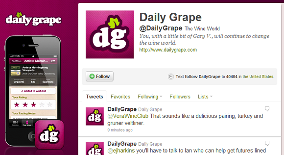 Daily Grape Twitter feed