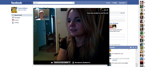 Facebook Video Calling Detail View