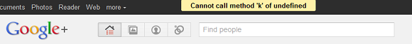 "Google Plus error message: ""Cannot call method 'k' of undefined"""