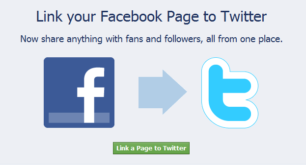 connecting twitter and facebook