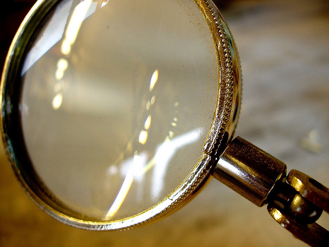 magnifying glass data