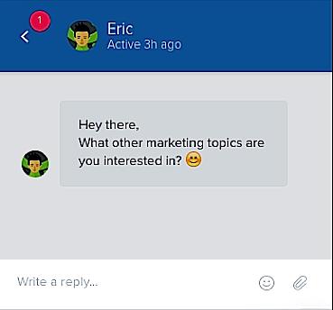 Collecting feedback pop ups