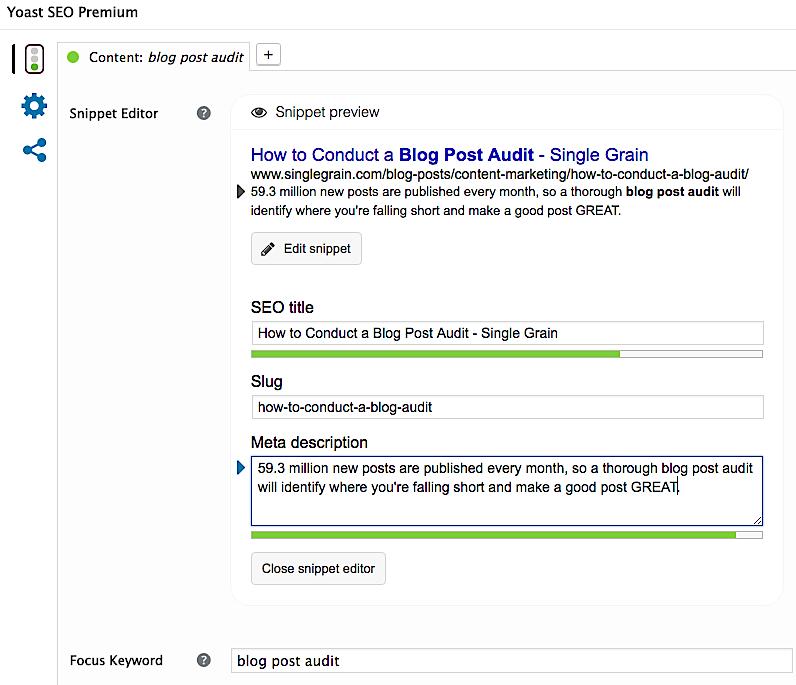 Post level SEO with Yoast plugin for WordPress