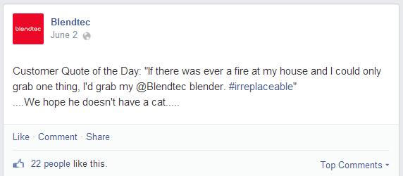 Blendtec Testimonial