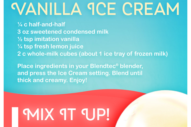 Vanilla Ice Cream Infographic