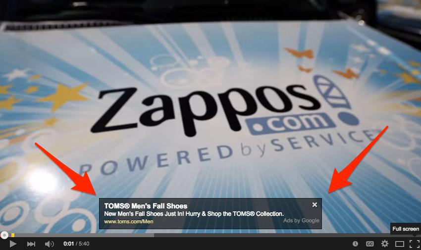 zappos overlay