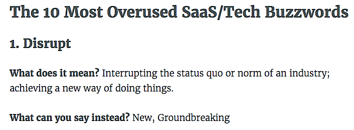 10 overused Saas buzzwords