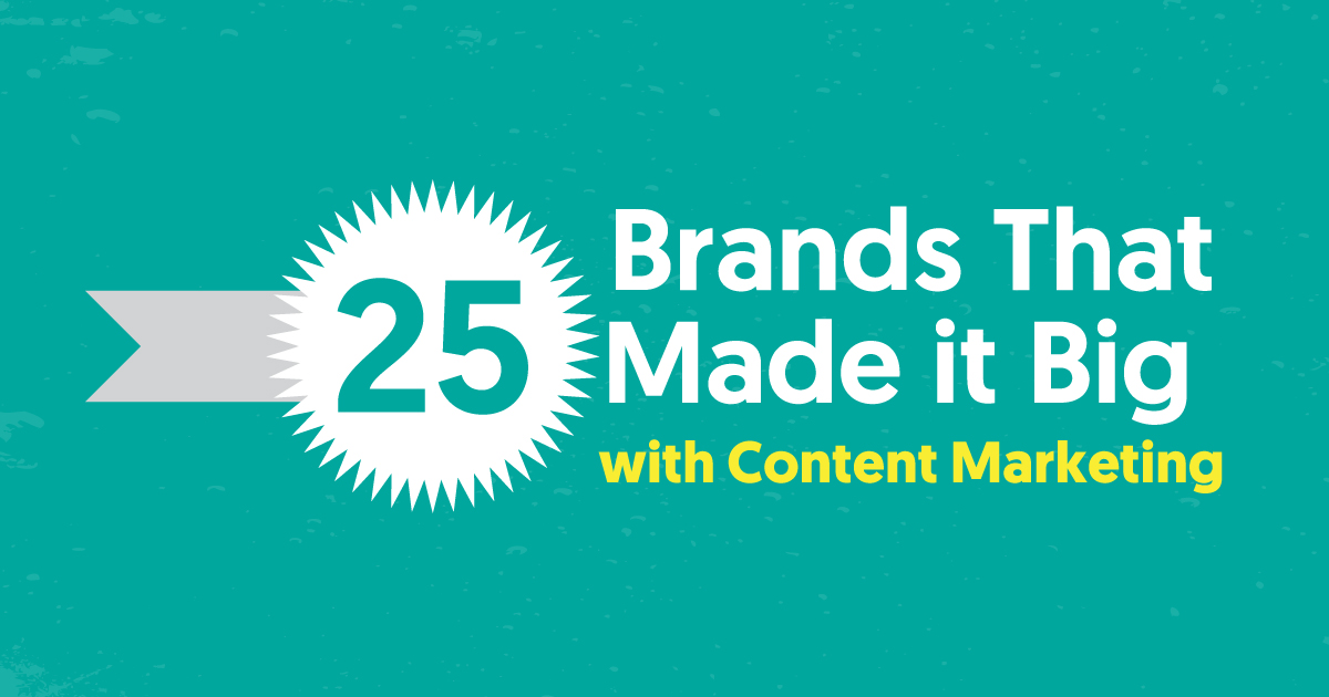 25 Brands That Made it Big with Content Marketing