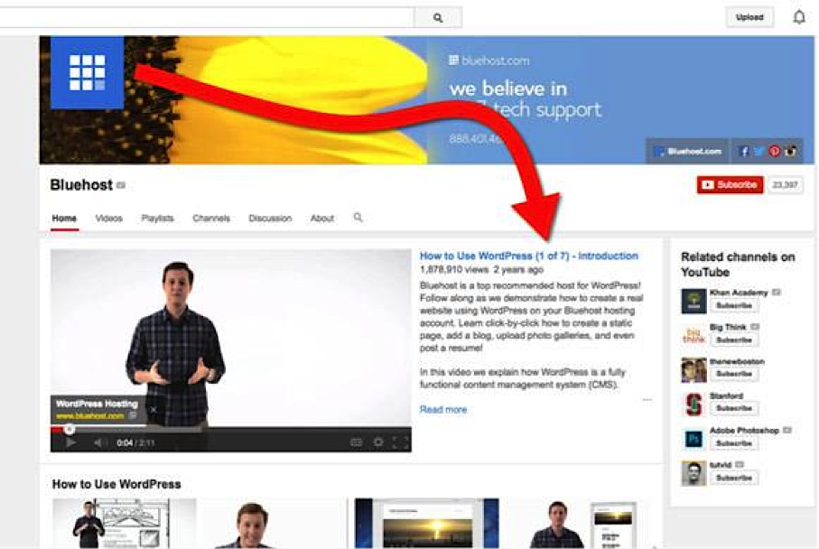 Bluehost YouTube2