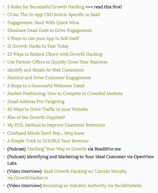 SaaS Growth Hacking Experts Resource Guide