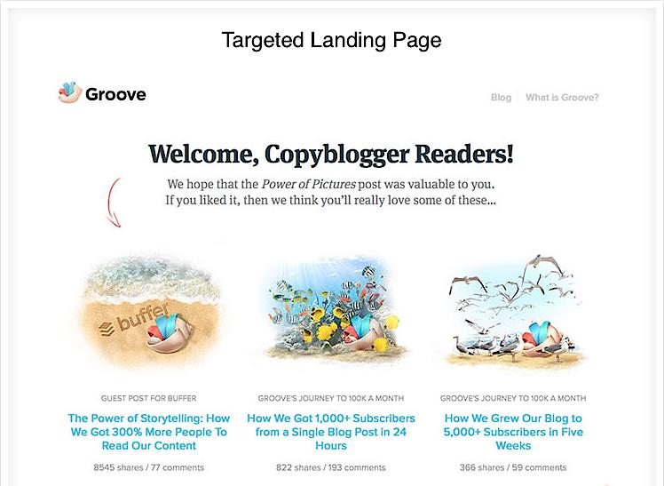 targeted landing page