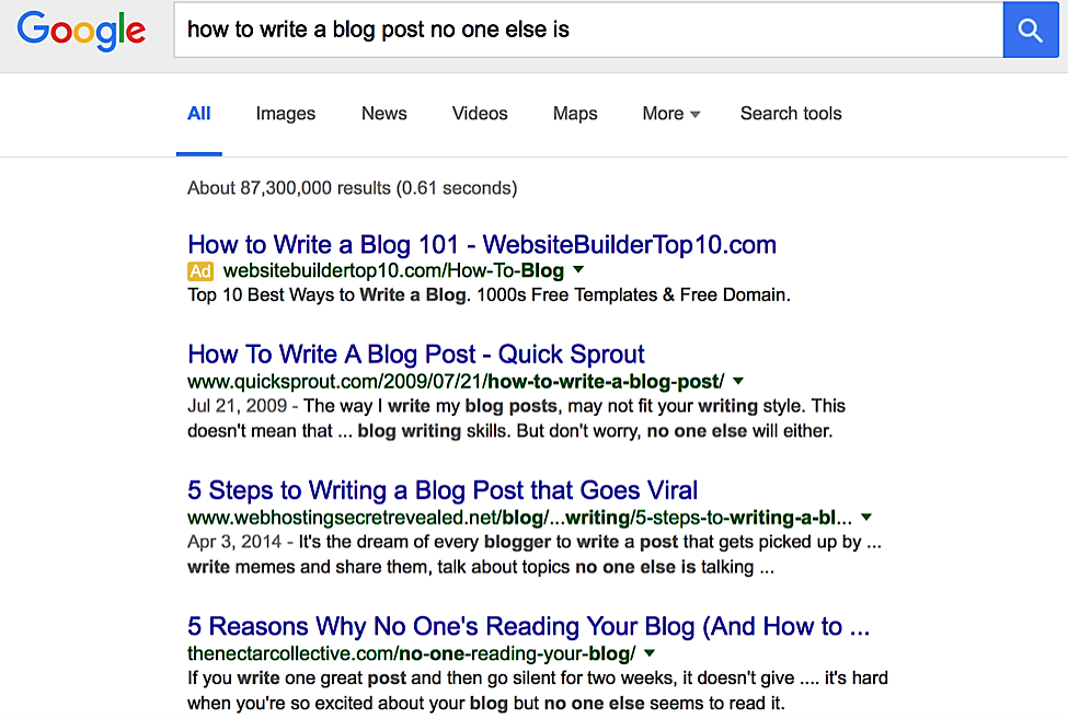 Its Not Cool To Give Your Google Killer >> 7 Tips To Creating Killer Blog Posts That No One Else Is Writing