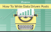 How To Write Data Driven Posts