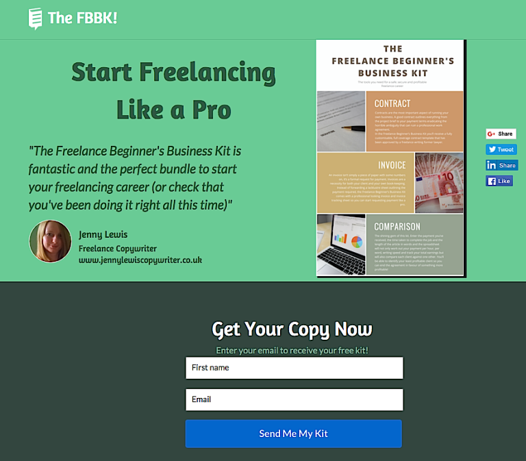 Have a Word Landing Page