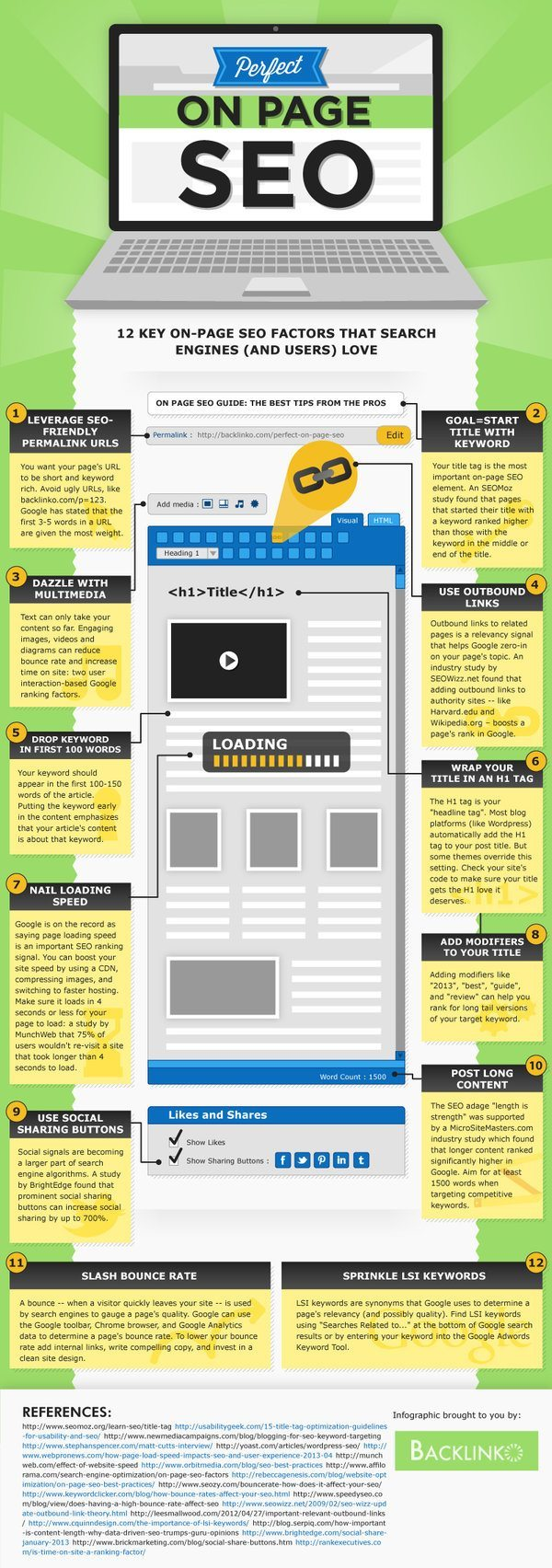 Backlinko on page seo infographic