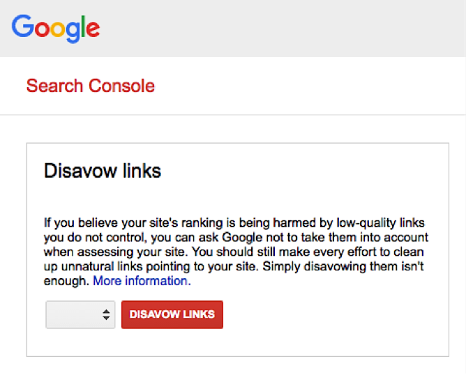 Google's disavow links tool