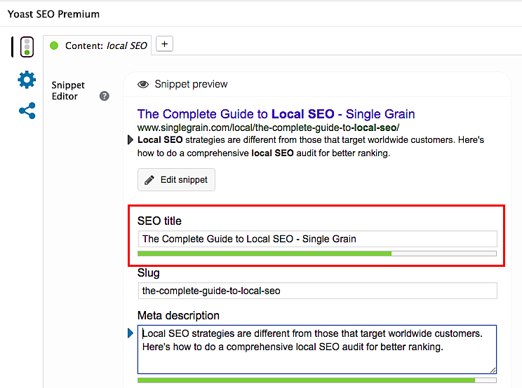 How to Do a Comprehensive Local SEO Audit - Single Grain - 웹