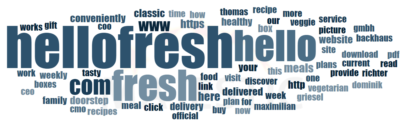 17 HelloFresh Word Cloud