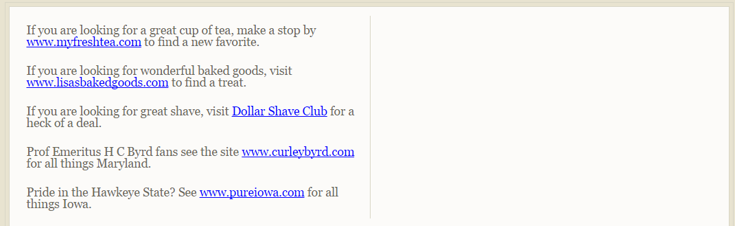 Dollar Shave Club 18 Spam Link