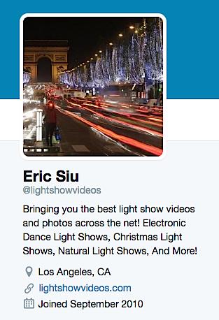 Eric Siu Light Show VIdeos