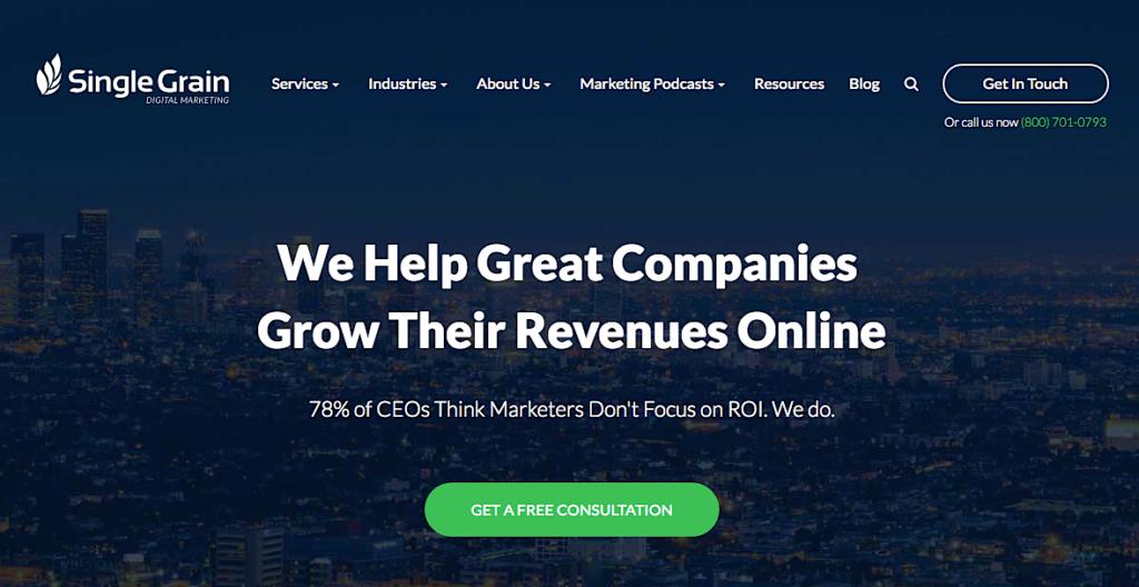 Single Grain digital marketing agency