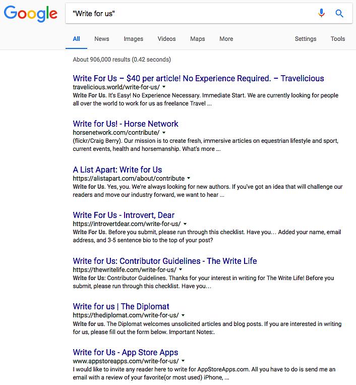 Google write for us