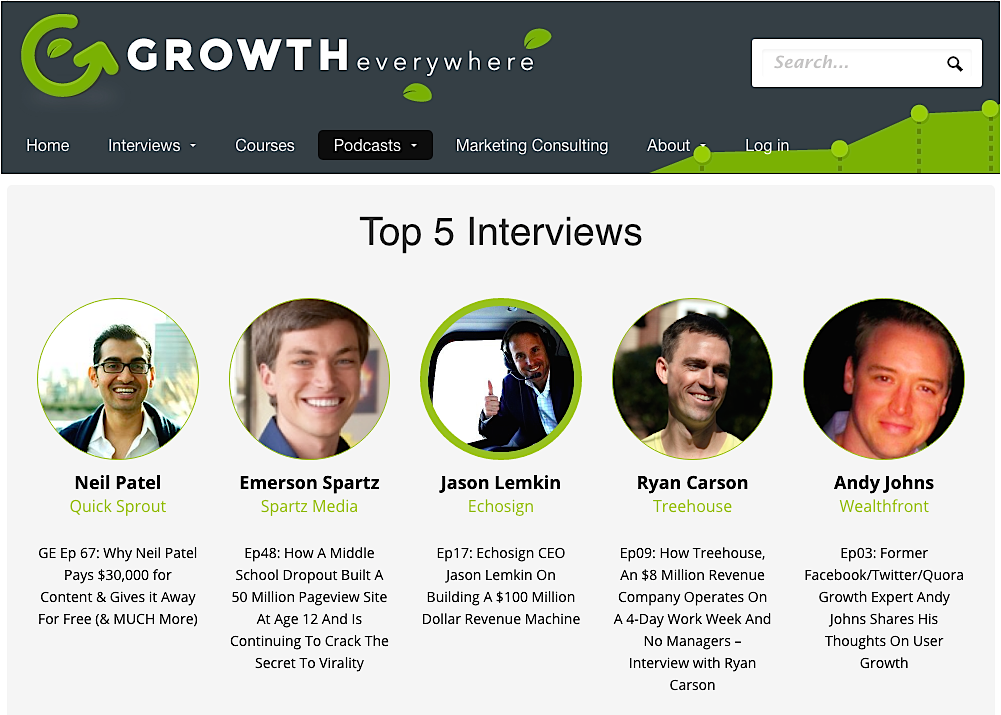 Growth Everywhere top 5 interviews2