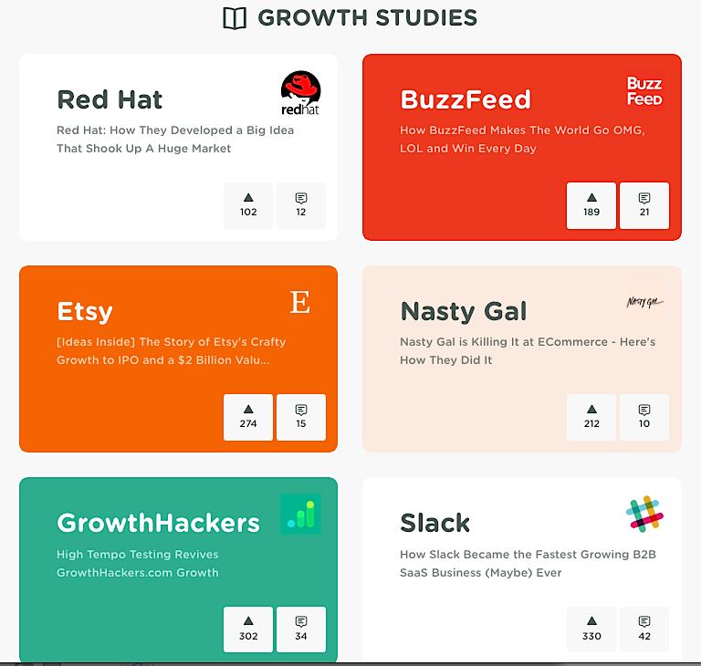 Growth Hackers case studies