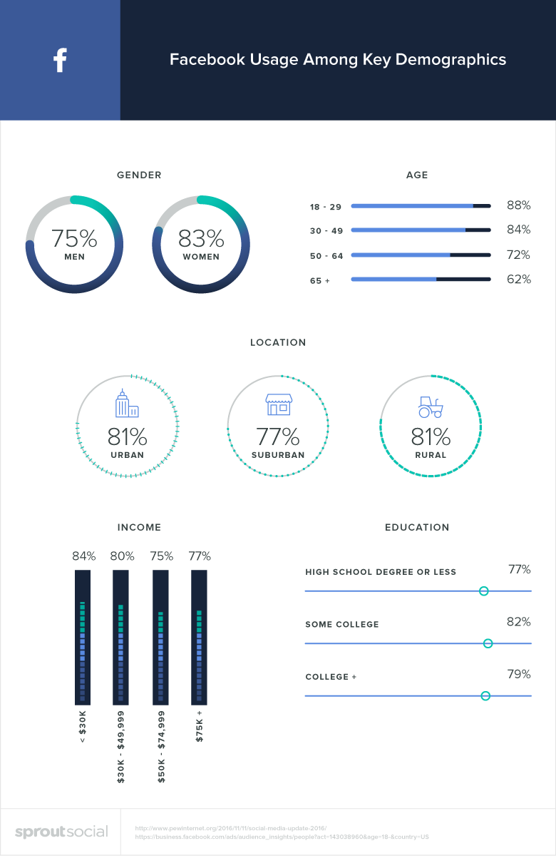 facebook usage demographics