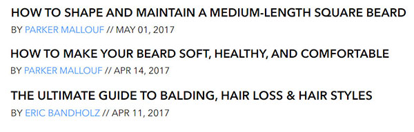 BeardBrand Blog Posts
