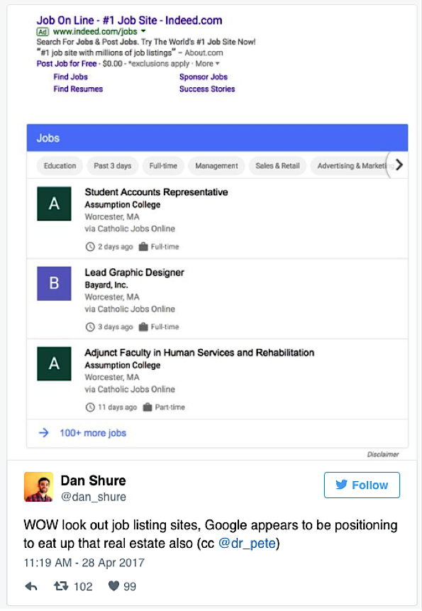 Google Is Integrating A New Job Portal Into Search Single Grain