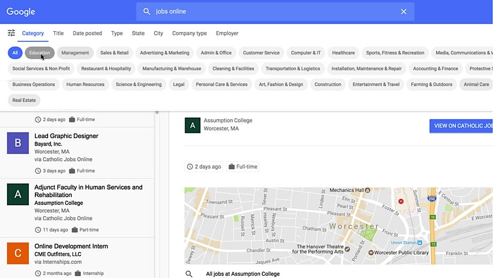 Google's Integrating a New Job Portal into Search4