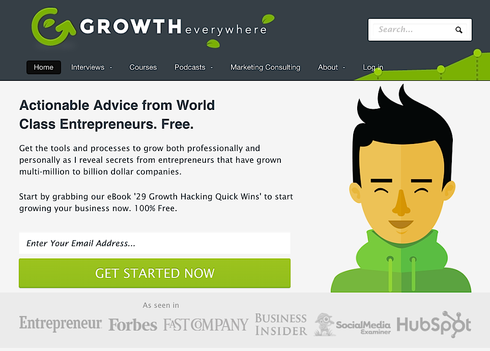 Growth Everywhere homepage