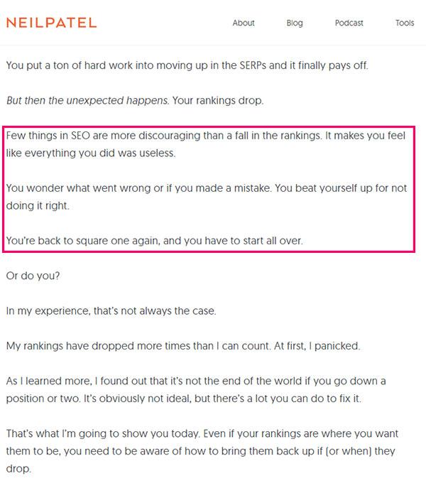 neil patel guide to copywriting