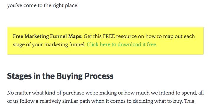 Single Grade marketing funnel content upgrade