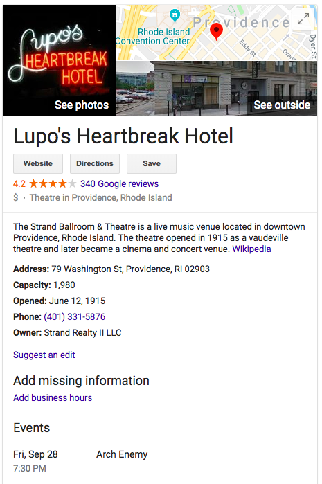 Lupo's Heartbreak Hotel