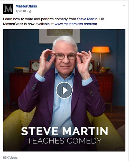 MasterClass Steve Martin
