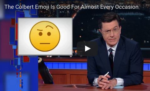 how to use colbert emoji