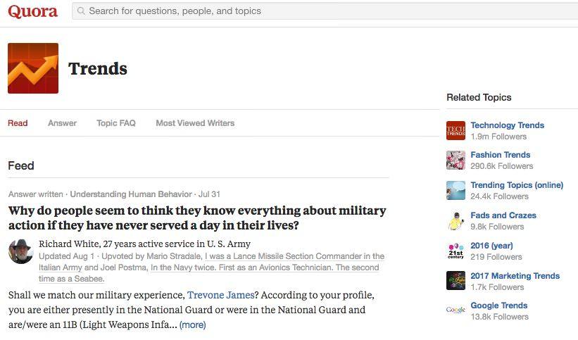 Quora Trends