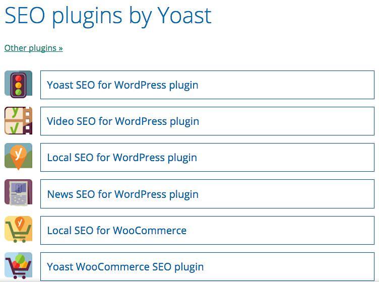 SEO plugins by Yoast