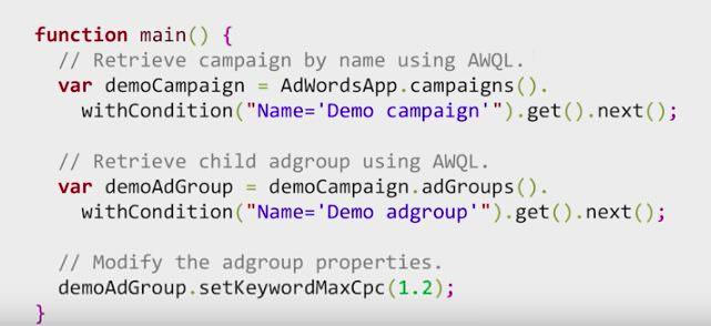 AdWords script example