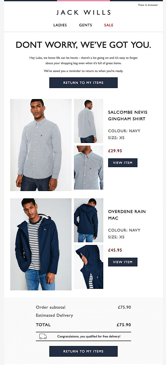 Jack Wills email