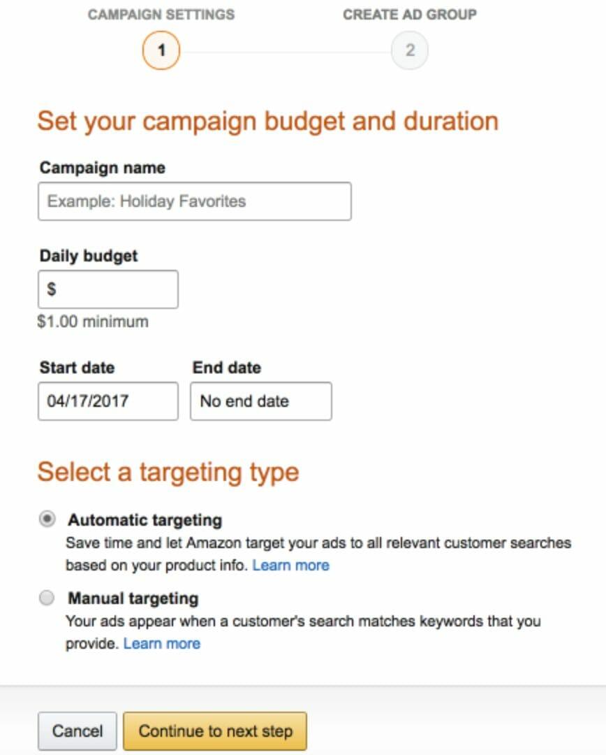 AutomaticManual Campaigns