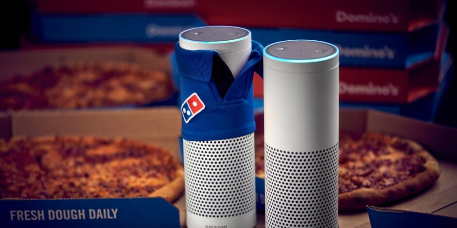 Domino's pizza and Amazon echo
