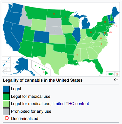 Legality of cannabis in the US