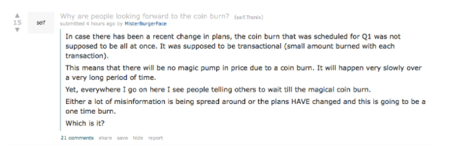 Reddit user asked a clarifying question about Tron