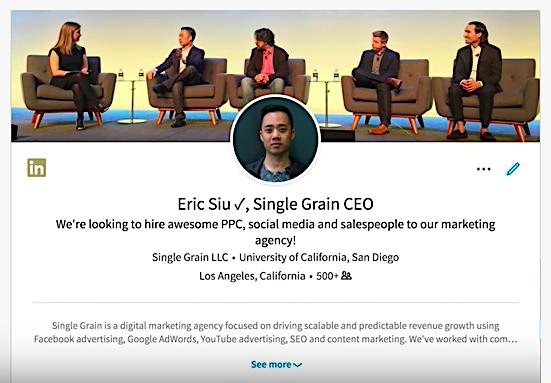 Eric Siu Single Grain LinkedIn